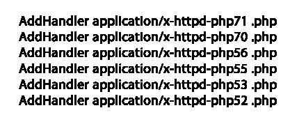 Festlegen der PHP Version über die Datei htaccess