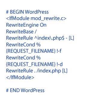Wordpress standard htaccess