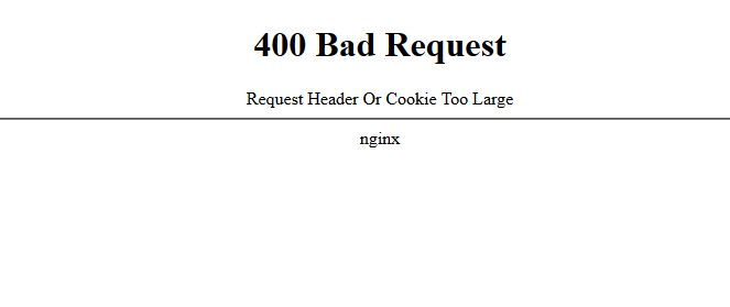 400 bad request request header